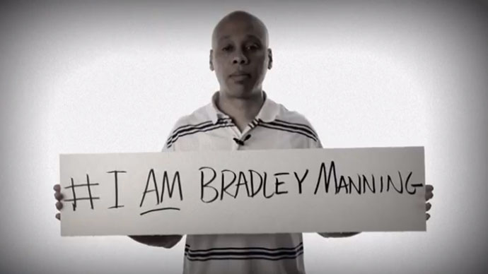 Screenshot from YouTube user I am Bradley Manning