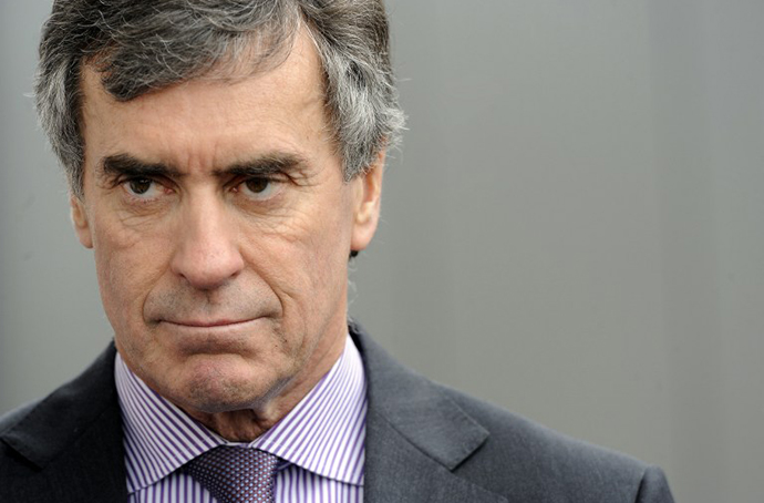 Jerome Cahuzac resigned from his budget minister post after he was accused of, and confessed to having a Swiss bank account. (AFP Photo / Jean-Pierre Muller)