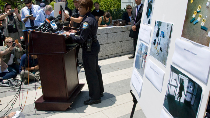 Santa Monica Police Chief Jacqueline Seabrooks speaks to reporters regarding yesterday's shooting spree in Santa Monica, California, June 8, 2013 (Reuters / Jonathan Alcorn)