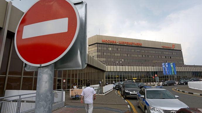 A view of Sheremetyevo airport terminal F in Moscow where US intelligence leaker Edward Snowden on June 26, 2013 spent a fourth day.(AFP Photo / Kirill Kudryavtsev)