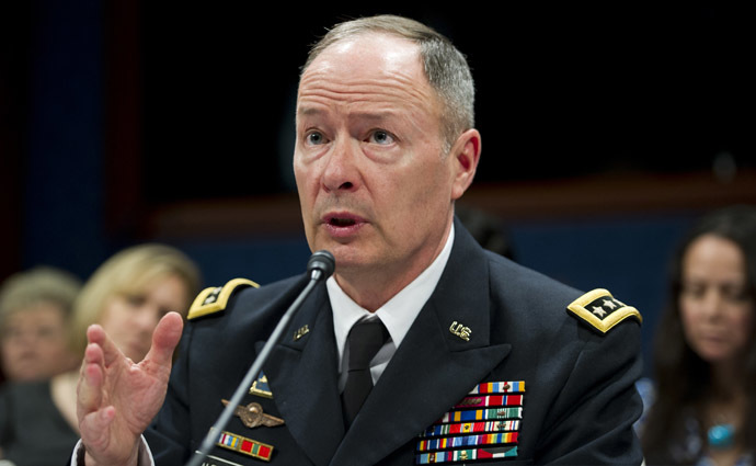 National Security Agency Director General Keith Alexander (AFP Photo/Saul Loeb)