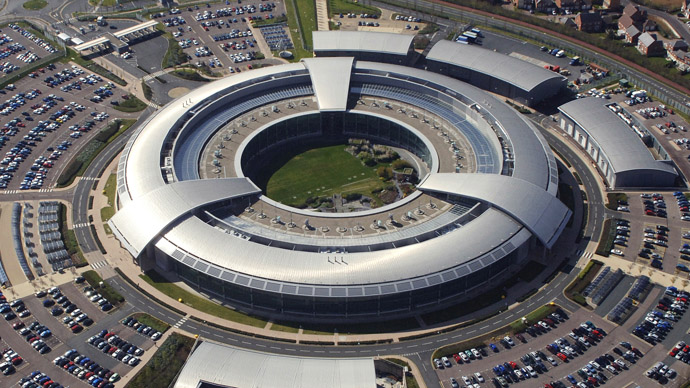 An aerial image of the Government Communications Headquarters (GCHQ) in Cheltenham, Gloucestershire. (Photo from www.defenceimagery.mod.uk)
