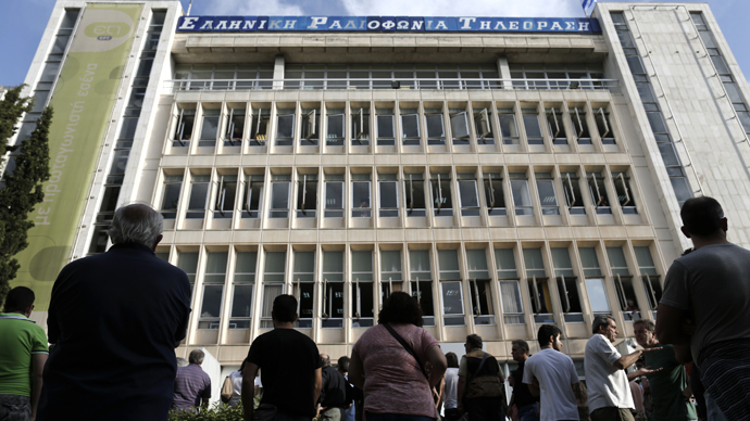 Employees seize Greek  State TV and radio HQ after govt-announced suspension