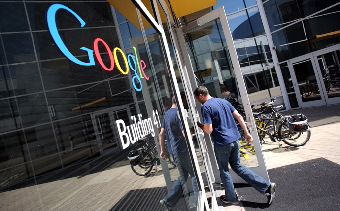 The Google logo is seen at the Google headquarters in Mountain View, California. (AFP Photo / Kimihiro Hoshino)