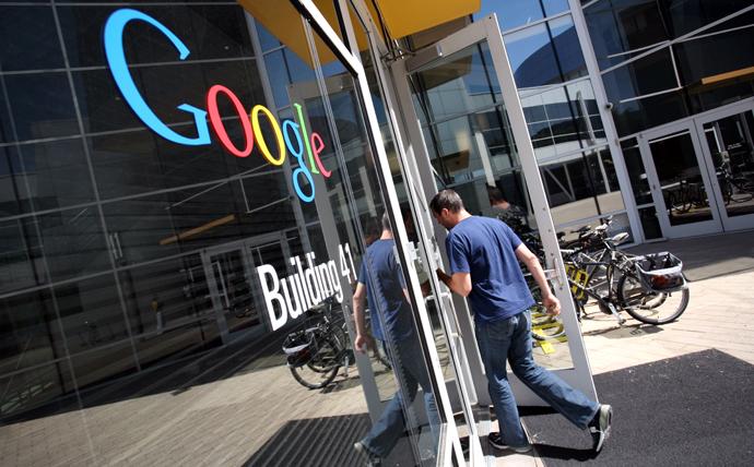 The Google logo is seen at the Google headquarters in Mountain View, California. (AFP Photo / Kimihiro Hoshino)
