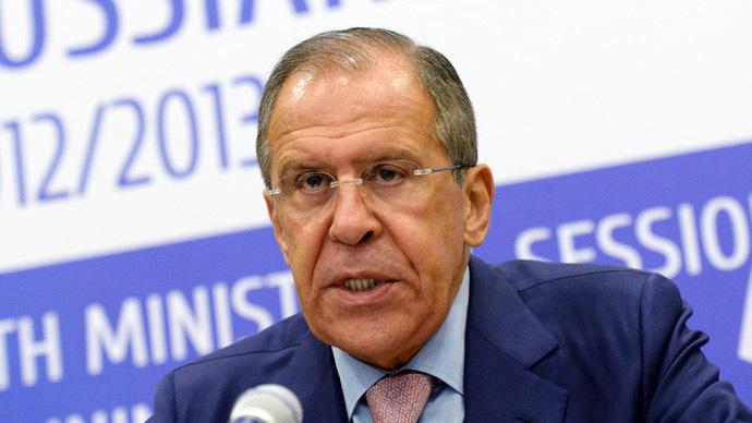 Russian Foreign Minister Sergei Lavrov (RIA Novosti/Alexey Filippov)