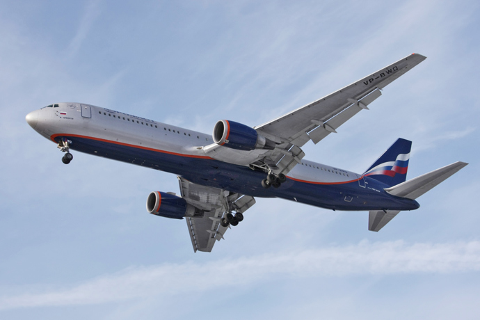 Aeroflot Russian Airlines Boeing-767. Lebedev was nominated to the board in 2012. (RIA Novosti / Marina Lisceva)