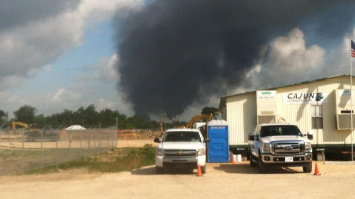 Massive explosion and fire at Louisiana chemical plant: 1 dead, at least 77 injured