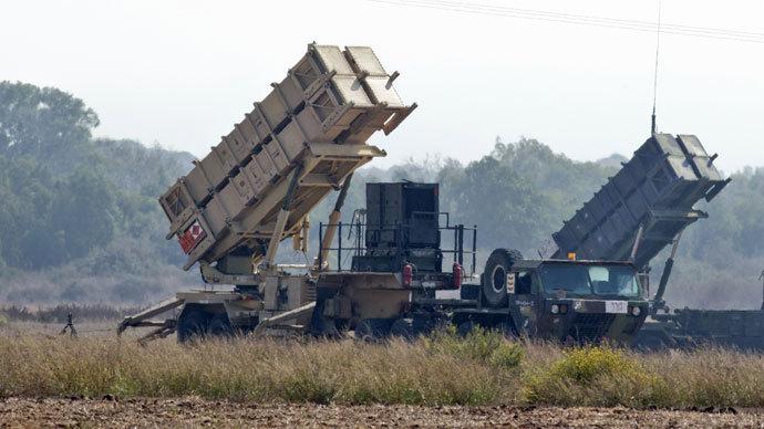 Two patriot missile batteries.(AFP Photo / Jack Guez)
