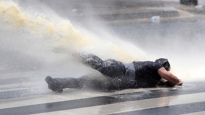 Ankara police block activist funeral cortege, raid memorial protest with tear gas