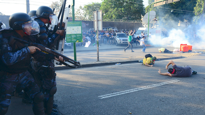 Hundreds arrested in Brazil as protest against World Cup spending grows violent