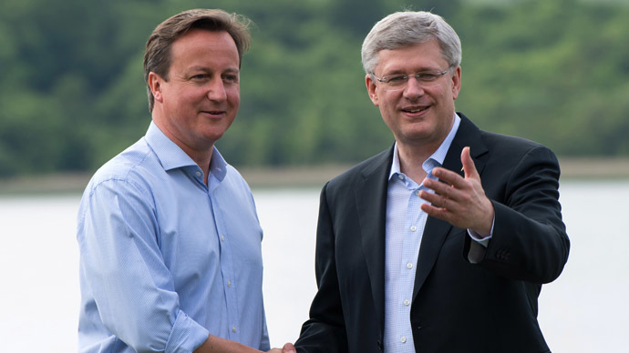 Canada's PM Harper dubs summit 'G7+1' as Russia only one not to side with Syrian rebels