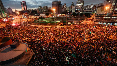 Brazil sees largest protests in decades as unrest hits second week