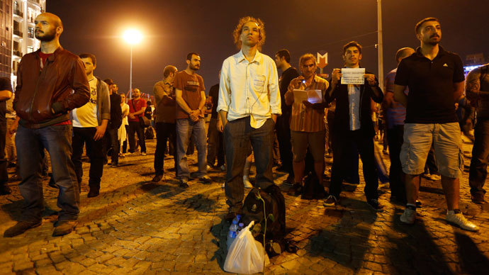 #Duranadam: 'Standing man' protest goes viral as Turkey eyes law to restrict social media