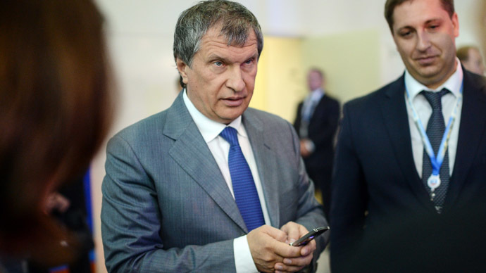Rosneft head Igor Sechin at the International Economic Forum.(RIA Novosti).
