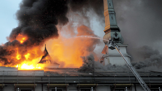Worst fire in years hits Latvian president's residence, medieval castle damaged (VIDEO)