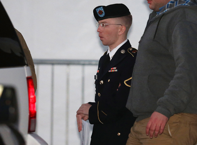 Pfc. Bradley E. Manning (AFP Photo / Mark Wilson)