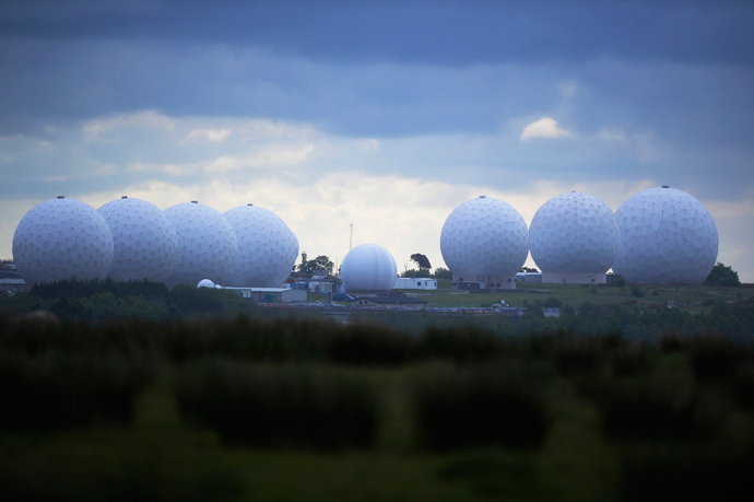 RAF Menwith Hill base, which provides communications and intelligence support services to the United Kingdom and the U.S. is pictured near Harrogate, northern England (Reuters / Nigel Roddis)