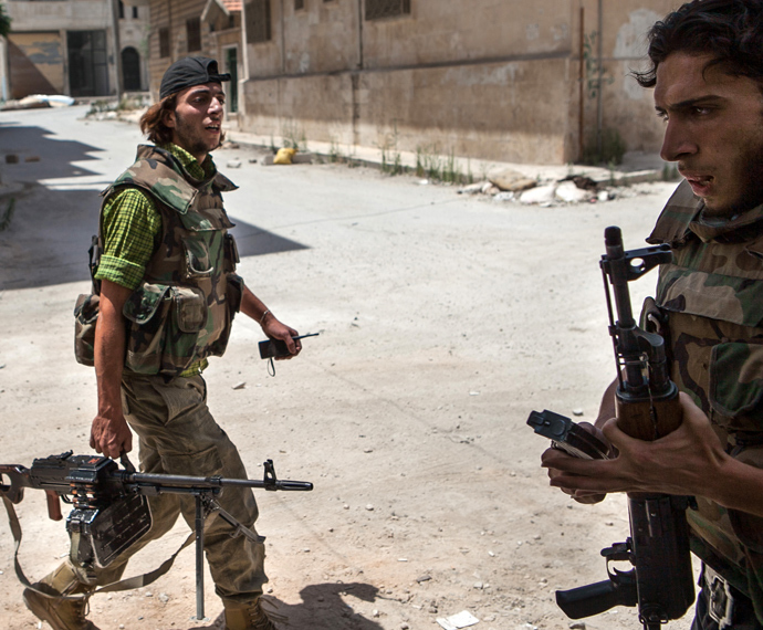 Syrian rebel fighters (AFP Photo)