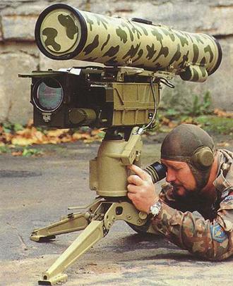 Kornets anti-tank missiles