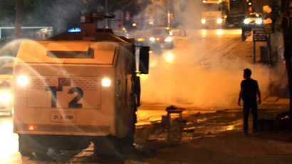 Police fire tear gas, water cannon to push back Gezi Park protesters in Istanbul