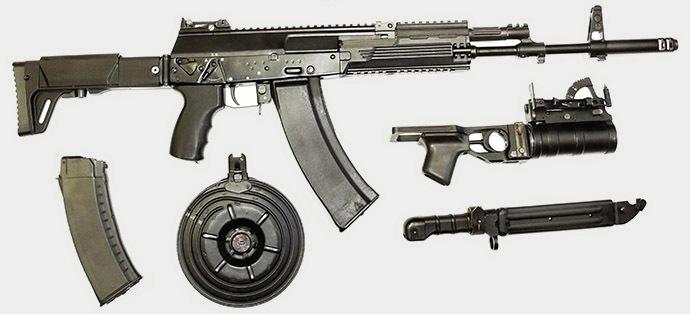 New Kalashnikov AK-12 model 2012, designed by the NPO Izhmash . (Photo courtesy of NPO Izhmash / RIA Novosti)