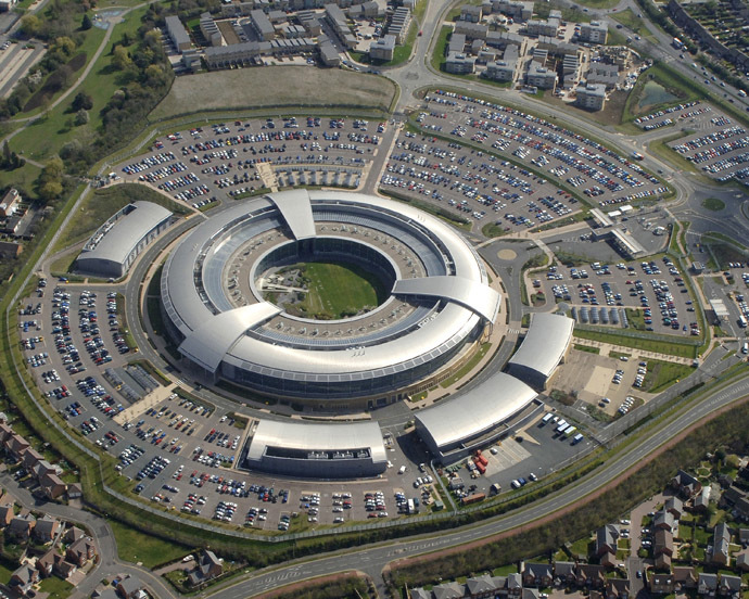 Britain's Government Communications Headquarters (GCHQ) in Cheltenham is seen in this undated handout aerial photograph released in London on October 18, 2010. (Reuters)