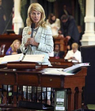 Senator Wendy Davis (Image from Twitter/@TheObamaDiary)