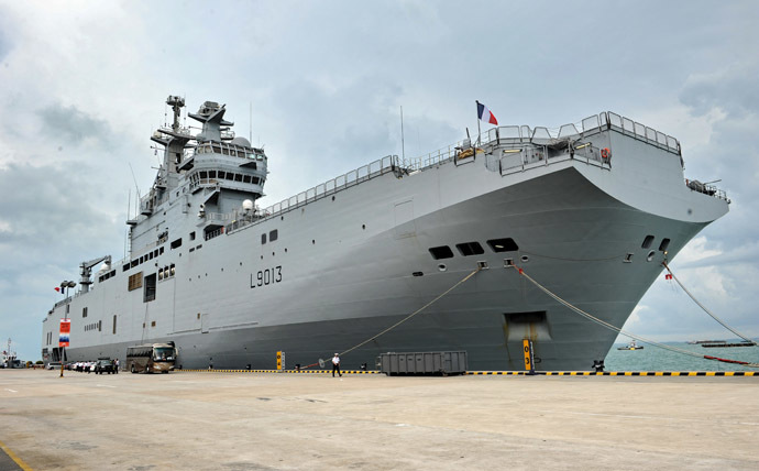 Mistral class amphibious assault ship (AFP Photo)