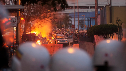Rio police clash with protesters near Confederations Cup match (PHOTOS)
