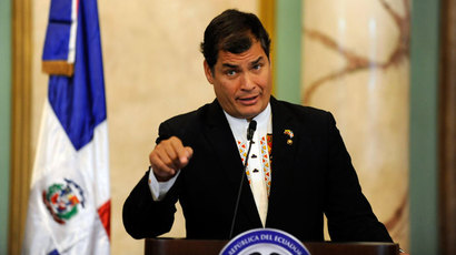 Ecuador's Correa in Moscow amid reheated NSA debate