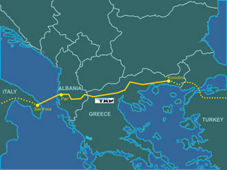 The Trans - Adriatic Pipeline (Image from wikipedia.org)
