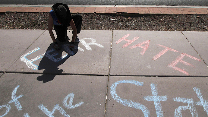 California chalk protester hit with gag order