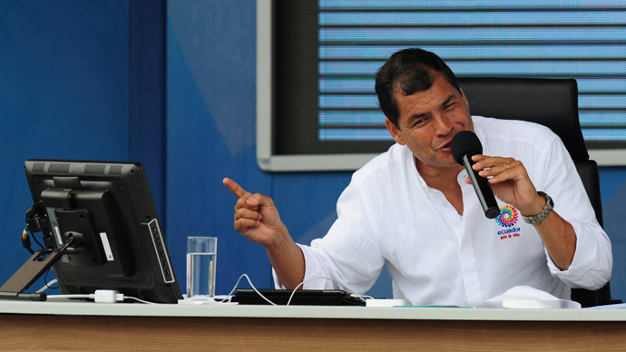 Ecuador's Correa: Solution for Edward Snowden's destination 'in hands of Russia'
