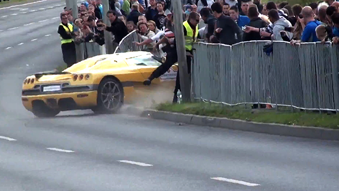 Sports car runs over 17 spectators at motor show in Poland