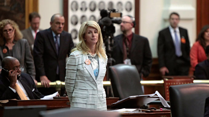State Sen. Wendy Davis.(AFP Photo / Erich Schlegel)