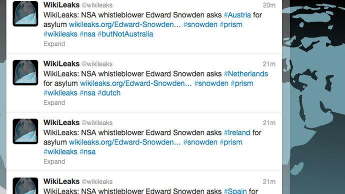 Screenshot from twitter.com/wikileaks