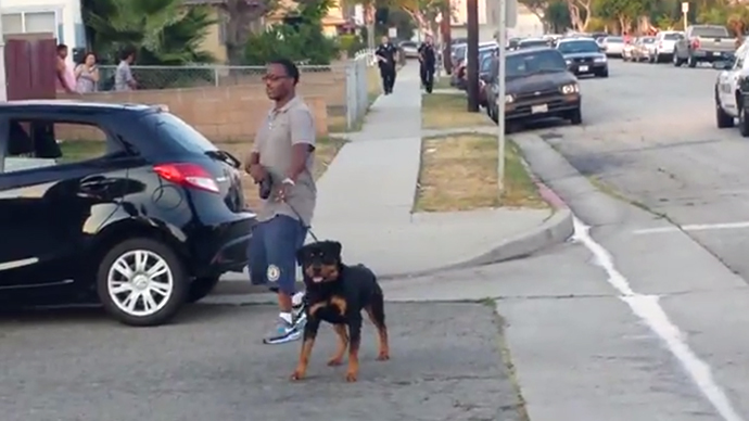 Cops arrest California man for filming them and then kill his dog (VIDEO)