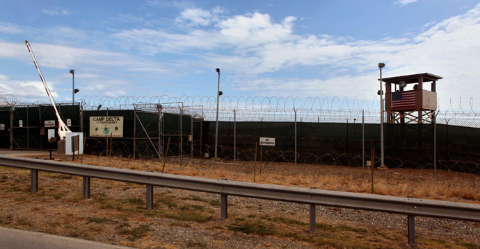 Guard tower and gate is seen at the Guantanamo detention center, at the U.S. Naval Base, in Guantanamo Bay, Cuba (Reuters / Brennan Linsley / Pool)
