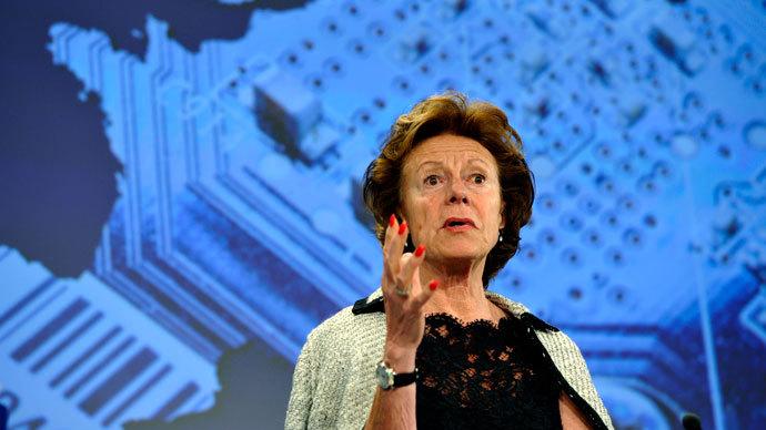 EU commissioner for Digital Agenda Neelie Kroes.(AFP Photo / Georges Gobet)