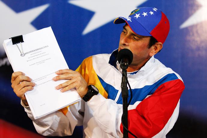 Venezuela's opposition leader Henrique Capriles (Reuters / Carlos Garcia Rawlins)