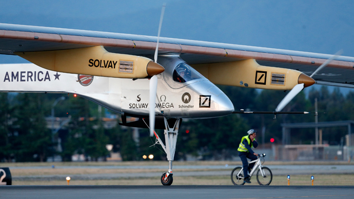 Solar Impulse solar electric airplane (AFP Photo / Beck Diefenbach)