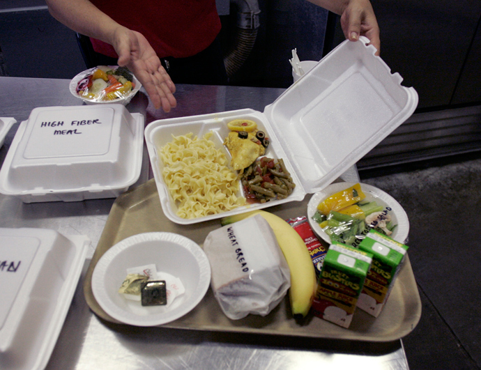 A meal, identical to ones prepared for detainees at the Guantanamo Bay Naval Station is shown in Guantanamo Bay, Cuba (Reuters / Joe Skipper)