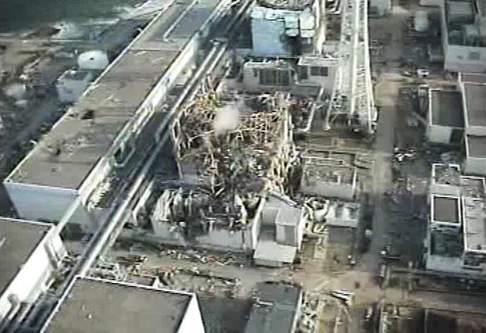 An aerial view of the third reactor building of TEPCO's No.1 Fukushima nuclear power plant at Okuma, in Fukushima prefecture on April 10, 2011 (AFP Photo / HO / TEPCO)
