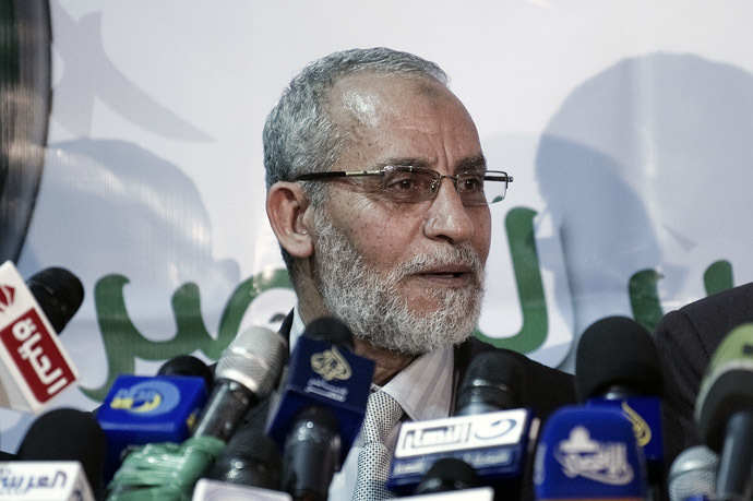 Mohamed Badie, Egypt's Muslim brotherhood leader (AFP Photo)