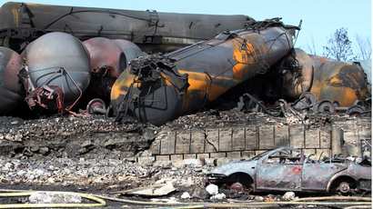 Oil railway looks to reopen after massive Quebec explosion