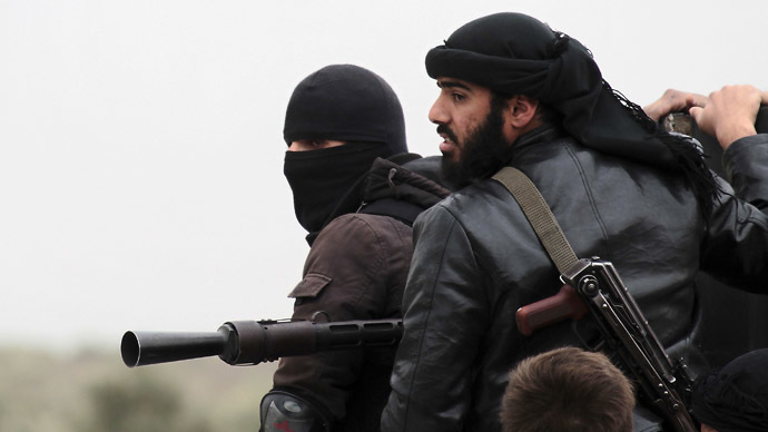 Fighters of the jihadist group Al-Nusra Front (AFP Photo/Guillaume Briquet)
