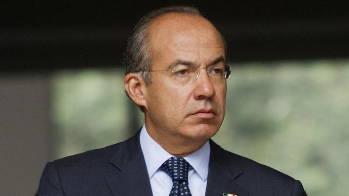 Former Mexican President Felipe Calderon (AFP Photo/Pedro Pardo)