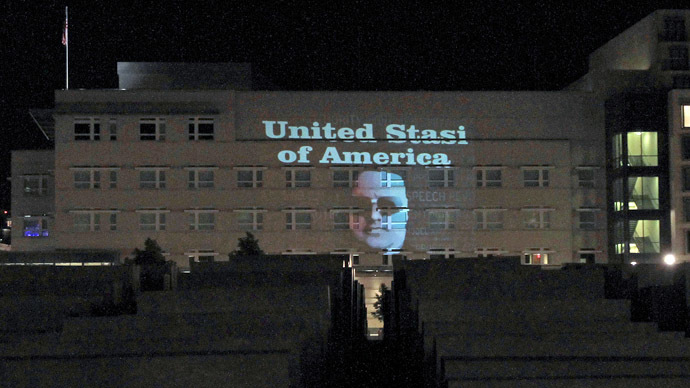 Writing on the wall? 'United Stasi of America' artist under police scrutiny