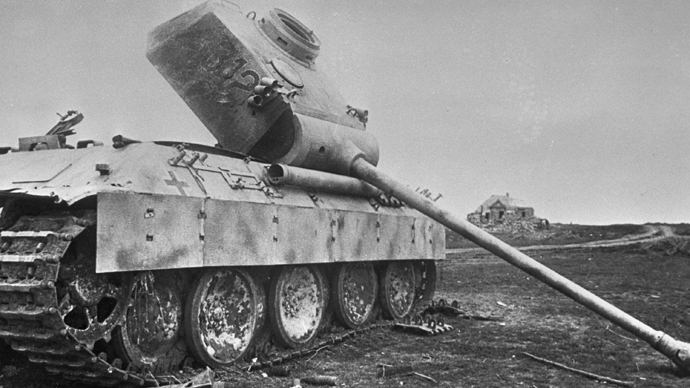 A disabled Nazi tank on the battlefield. The Kursk Bulge (RIA Novosti / San)